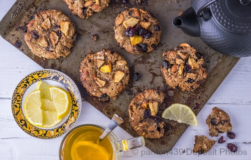 Gluten Free Nut Pulp Raisin Coconut Cookies