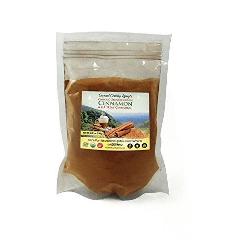 Coconut Country Living's 8.8 oz size of Organic Ceylon Cinnamon Powder