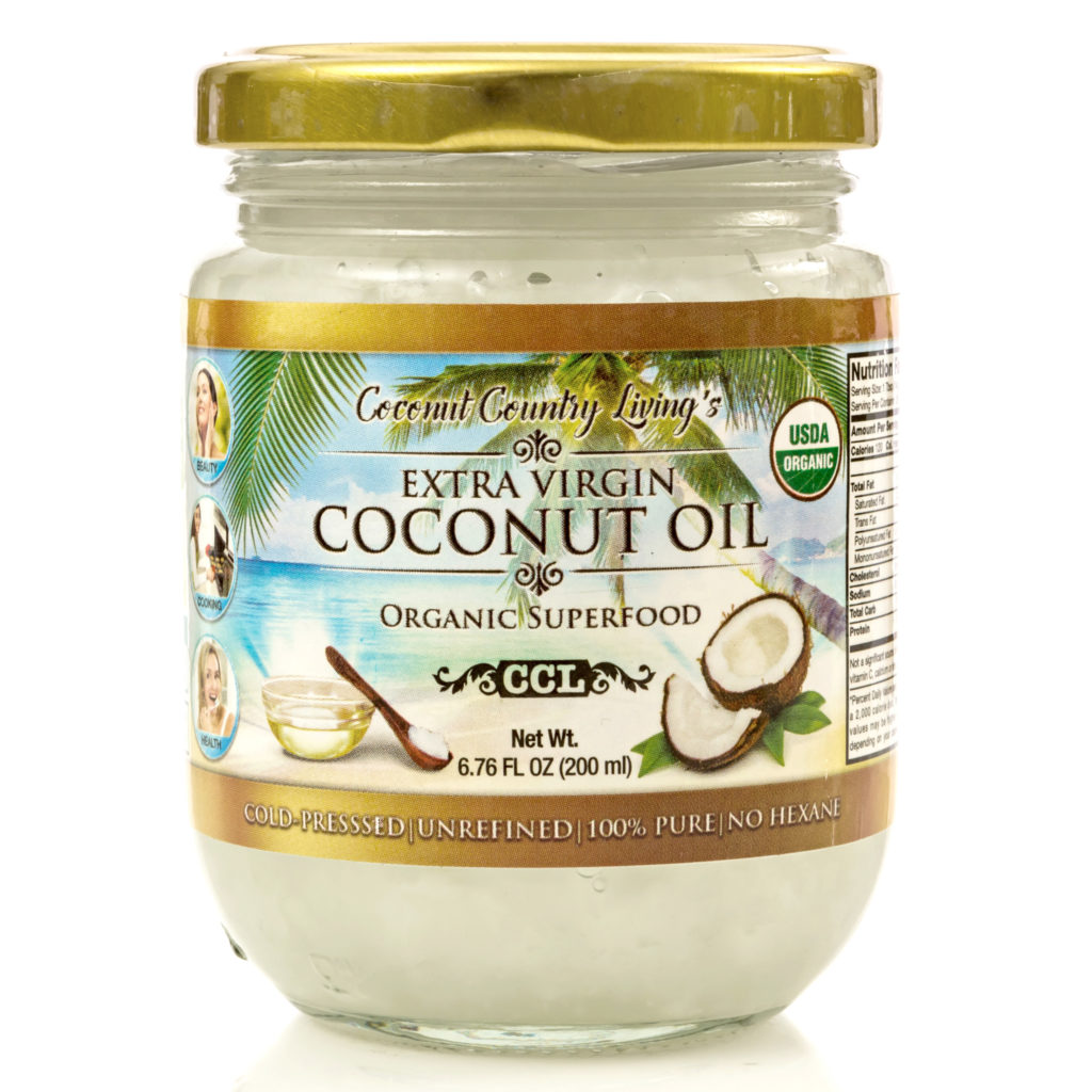 CCLb1030 Extra Virgin Coconut Oil 6.76 oz Beauty Size