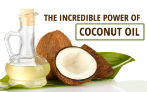 coconut oil doesn't build up fat in your body