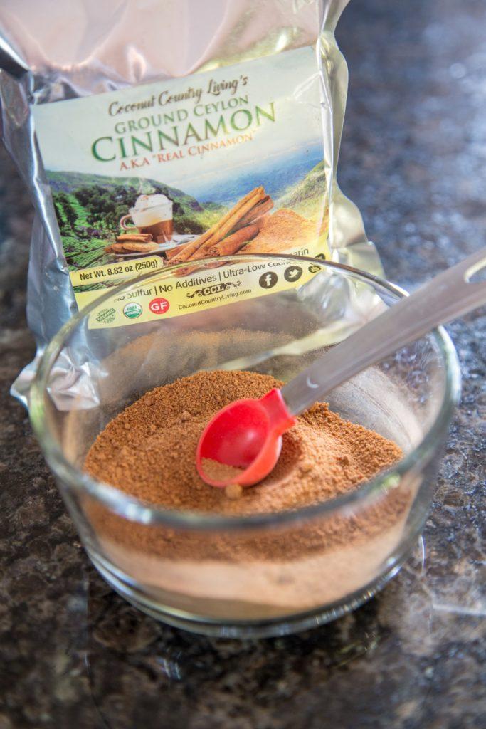 Ceylon cinnamon powder helps as a natural sweetener