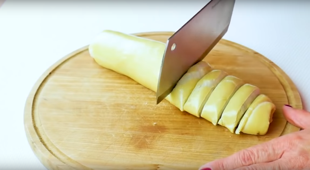 slice your rolls before spreading them on the parchment