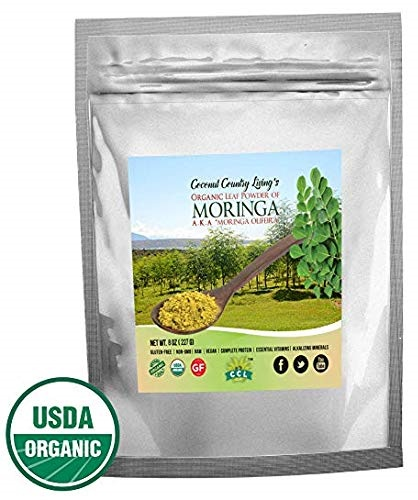 buy organic moringa leaf powder 1 lb bag