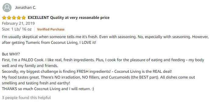 fresh turmeric review